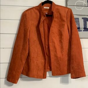 Orange Suede Blazer